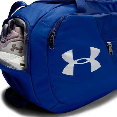 UNDER ARMOUR UNDENIABLE 4.0 DUFFLE SM GRIS Y NEGRO