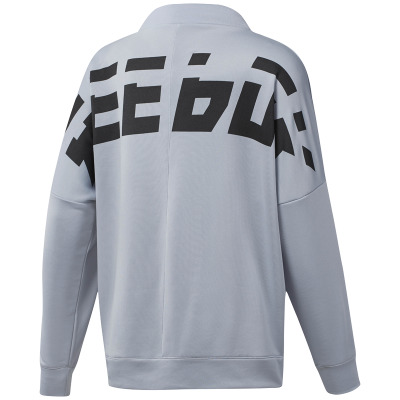 REEBOK WOR MEET YOU THERE GRAPHIC GRIS MUJER