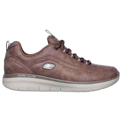 SKECHERS SYNERGY 2.0 MARRÓN MUJER