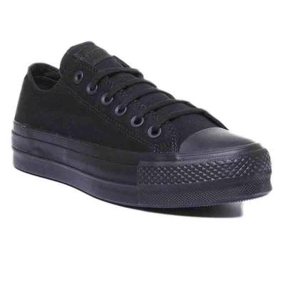 CONVERSE ALL STAR LIFT OX NEGRO MUJER