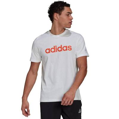 ADIDAS CAMISETA ESSENTIALS LINEAR LOGO BLANCO HOMBRE