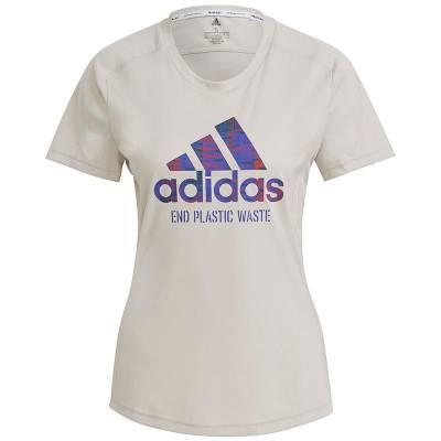 ADIDAS CAMISETA RUN FOR THE OCEANS GRIS MUJER