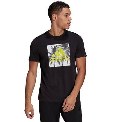 ADIDAS CAMISETA VACATION PHOTO HOMBRE NEGRO
