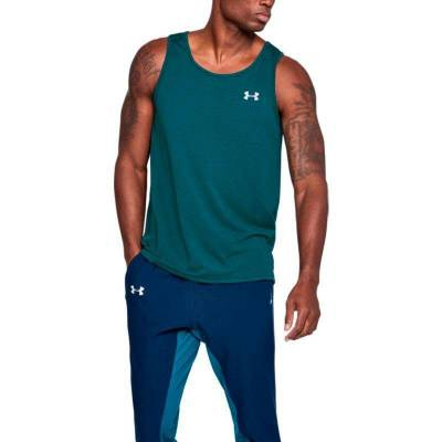 UNDER ARMOUR THREADBORNE STREAKER SINGLET VERDE AGUA HOMBRE