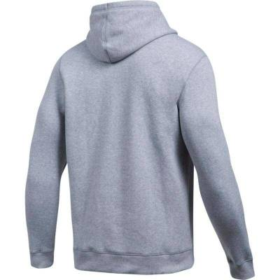 UNDER ARMOUR RIVAL FITTED GRAPHIC HOODIE GRIS Y AMARILLO HOMBRE