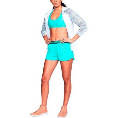 UNDER ARMOUR PLAY UP SHORT 2.0 NOVELTY-TRO AZUL MUJER