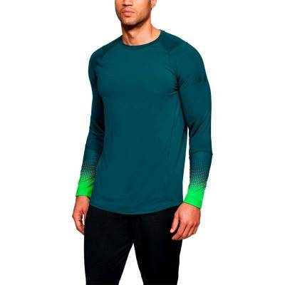 UNDER ARMOUR RAID 2.0 LS GRAPHIC MED AZUL MAR Y VERDE HOMBRE