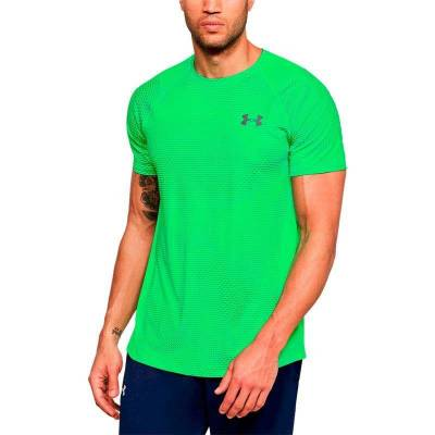UNDER ARMOUR RAID 2.0 SS LEFT CHEST VERDE HOMBRE
