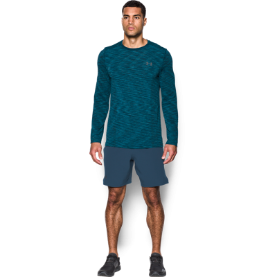 UNDER ARMOUR THREADBORNE SEAMLESS MANGA LARGA AZUL HOMBRE