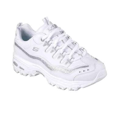 SKECHERS D'LITES NOW & THEN BLANCO MUJER
