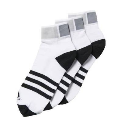 ADIDAS CLIMA ANKLE NEGRO Y BLANCO (Pack de 3)