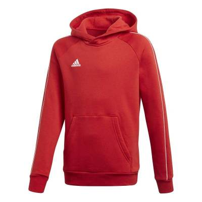 ADIDAS CORE 18 HOODY ROJO Y BLANCO JUNIOR